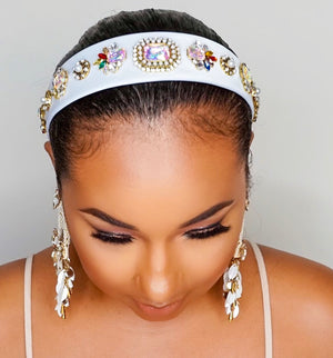 Too Cute Sis | Jewel Bling Headband - White