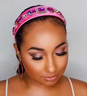 Too Cute Sis | Jewel Bling Headband - Fuchsia