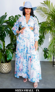 Miami Vice Long | Cutout Maxi - Pink/ Blue
