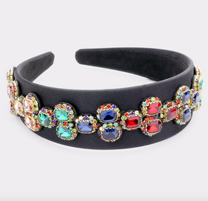 The Cutest | Jewel Bling Headband - Black - Cutely Covered