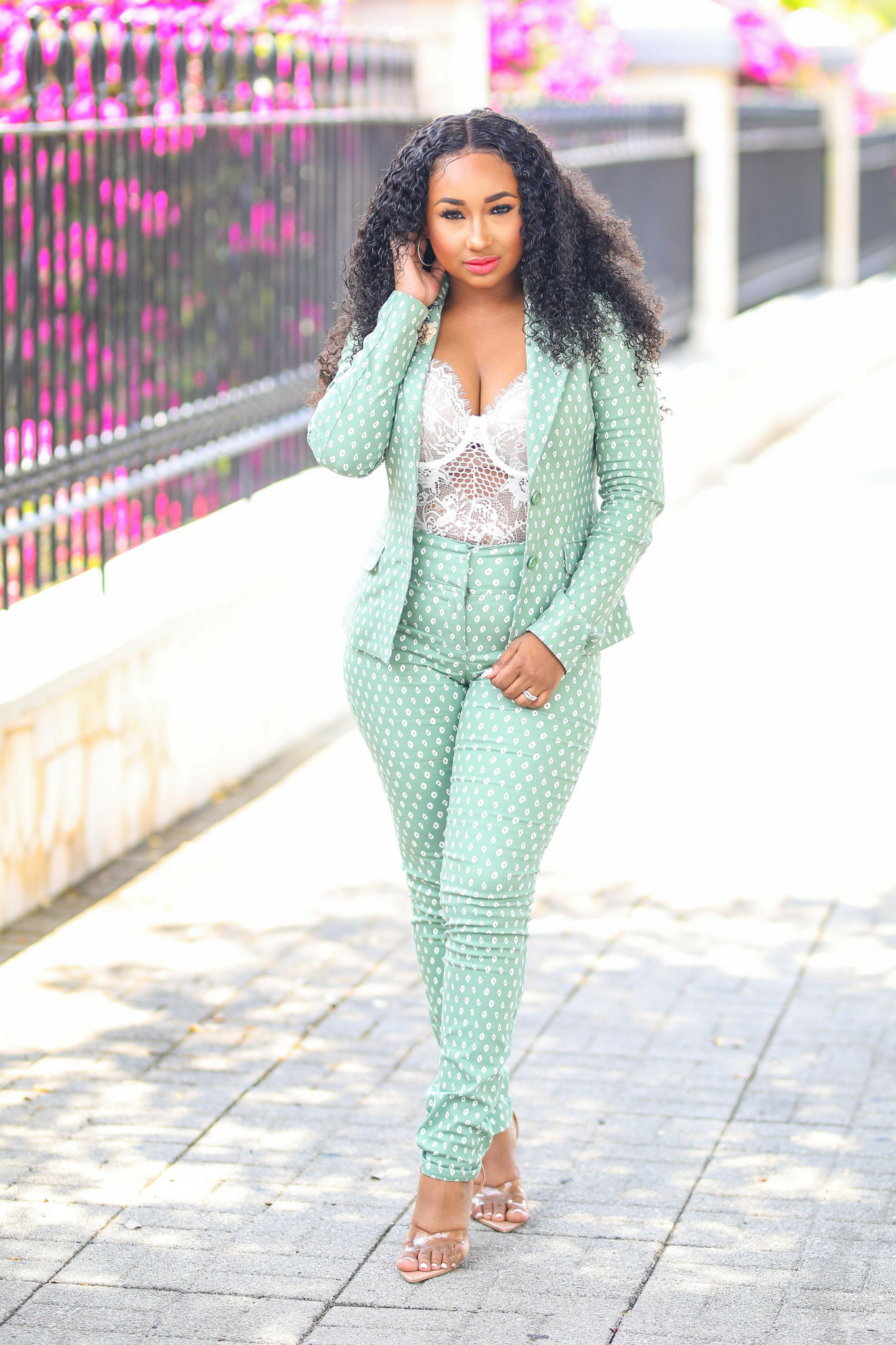 Boss Babe | Blue/ Sage/ Mustard Suit Set - Cutely Covered