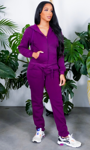 On The Go | Purple Jogger set