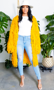 Trophy |Yellow Fringe Cardigan