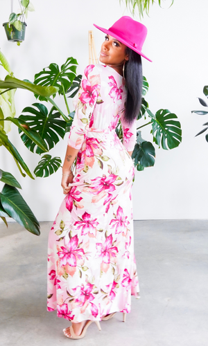 Blessed and Beautiful l  Stretch Maxi Dress - Pink