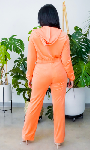 Pool Side 2 l 3 Piece Velour Set - Orange