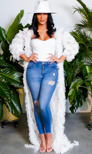 Queen in Ruffles | Ruffle Cardigan White
