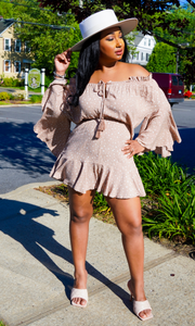Out and About | Off The Shoulder Romper - Mauve