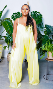Cute & Casual 2 l Loose Jumpsuit - Yellow