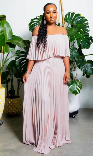 Sweet Lady| Off The Shoulder Maxi - Dusty Violet
