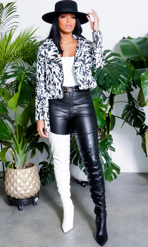 Word on the Street |  Black and White Jacket