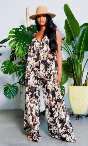 Cute & Casual 2 l Loose Jumpsuit -  Beige
