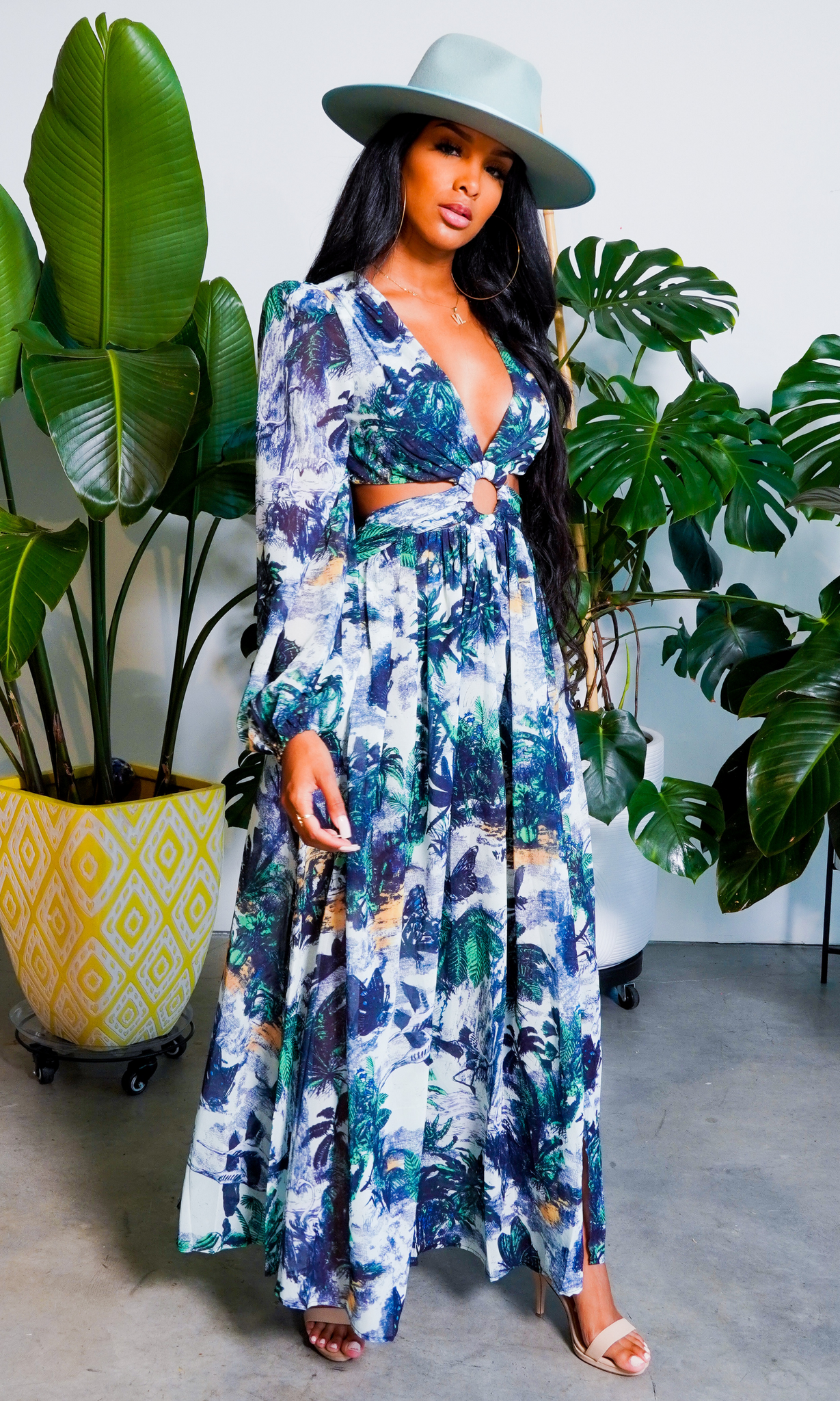 Shut It Down l Cutout Maxi Dress