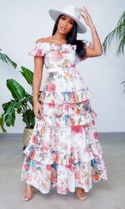 Secret Garden | Off The Shoulder Ruffle Maxi -  Floral