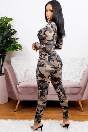 ATTENTION | Camo Jumpsuit