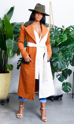 Cozy & Fab | Color Block Coat
