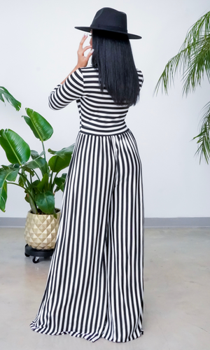 Beauty Is Her Name 2 l Striped Jumpsuit