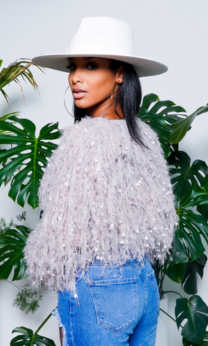 Fierce & Fabulous| Fringe Crop Top - Mauve