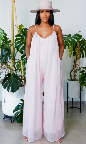 Cute & Casual 2 l Loose Jumpsuit - Blush