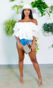 Special   Off The Shoulder Top - White