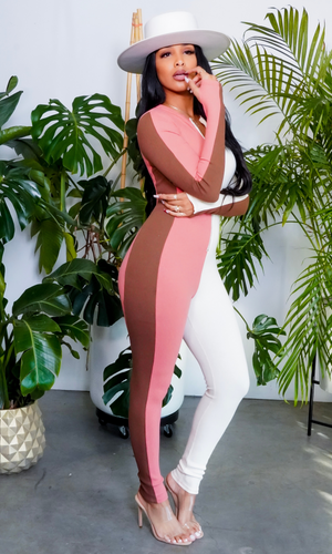Body Ody | Color block Jumpsuit - Coral