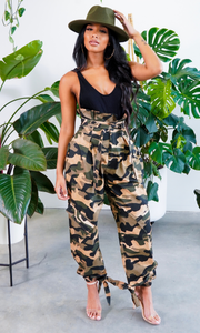 Go To War For You | High Waist Camo Pants