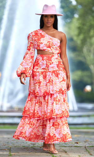 Lady Luxe | Print Skirt Set FINAL SALE - Cutely Covered