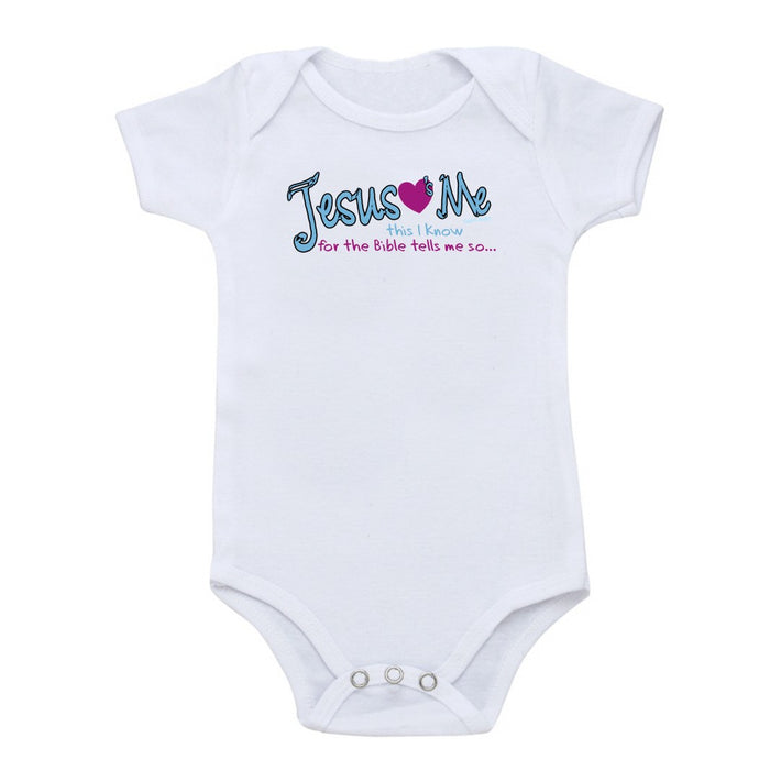 Faith Baby | Jesus Loves Me This I Know For The Bible Tells Me So... Baby Boy Onesie