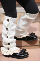 Faith Baby | Ivory Missy Lynn Button Up Leg Warmers