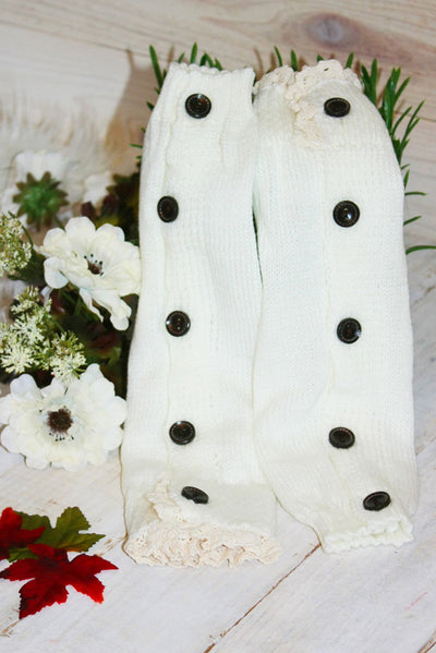 Faith Baby | Ivory Leg Warmers