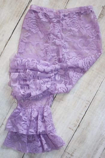 Faith Baby | Lavender Lace Leggings