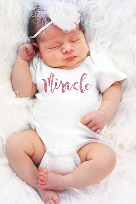 Miracle Faith Baby Girl Onesie