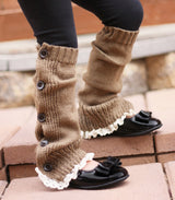 Faith Baby | Nutmeg Button Up Leg Warmers