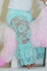 Faith Baby Christian Clothing & Apparel | Teal Lace Leggings