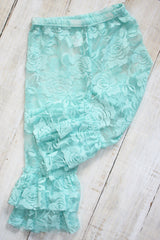 Faith Baby Christian Clothing  | Teal Lace Leggings