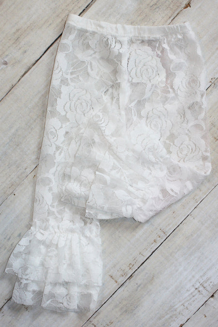 Faith Baby Christian Clothing & Apparel | White Lace Leggings