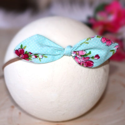 Bailey Blossom Infant Baby Tie Knot Headband |  FaithBaby.com