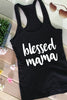Blessed Mama Christian Racerback Tank - FaithBaby.com