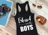 Faith Baby | Blessed with Boys Christian Racerback Tank