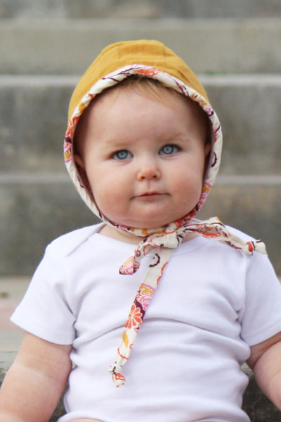 Butterscotch Handmade Baby Bonnet - FaithBaby.com