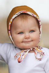 Butterscotch Handmade Baby Bonnet - FaithBaby Bonnet