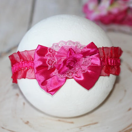 Delightful Fuchsia Infant Baby Toddler Headband |  FaithBaby.com
