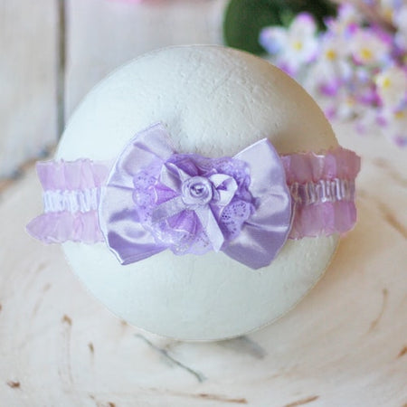 Delightful Lavender Infant Baby Toddler Headband |  FaithBaby.com