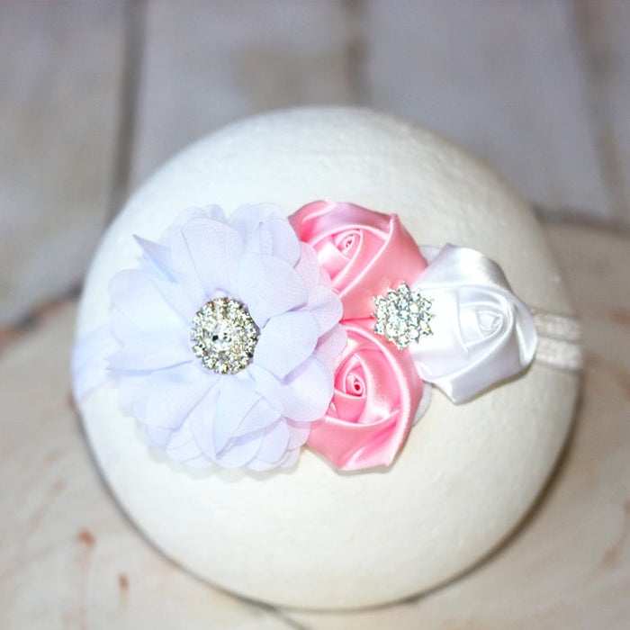 Elizabeth Rose Infant Toddler Headband | FaithBaby.com