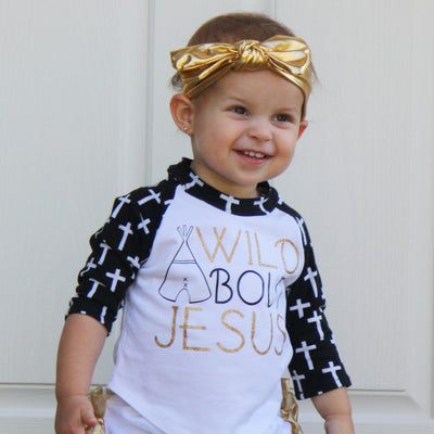 Wild about Jesus Raglan | FaithBaby.com