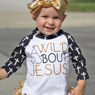 Faith Baby Raglan Tee | Wild About Jesus