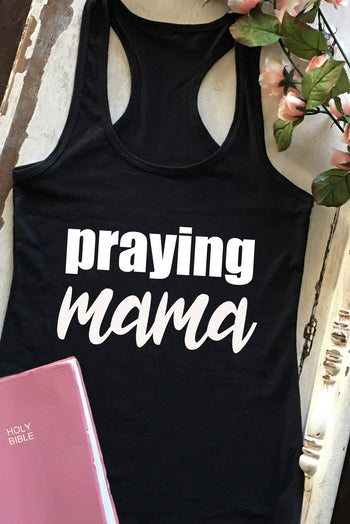 Faith Baby | Praying Mama Christian Racerback Tank