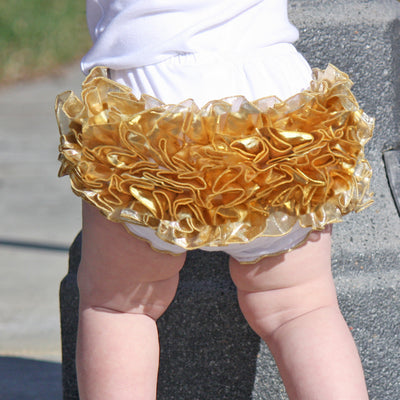 Brilliant Ruffled Baby Bloomers | FaithBaby.com