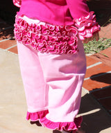 Faith Baby | Fuchsia Pink Ruffled Butt Crawlers for Infant to Toddlers