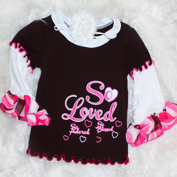 So Blessed Ruffled Long Sleeve Top | Faith Baby