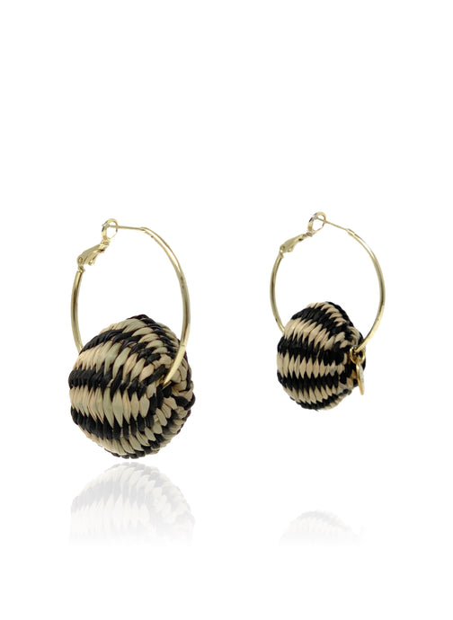 Claudia earrings black stripes